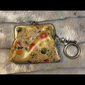 Patricia Nash Scarlet Blooms Borse Coin Purse Key Chain Multicolored  NWT $59
